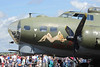 Farnborough Airshow UK. 2016 Boeing B17 world war 2 bomber closeup