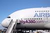 Farnborough Airshow UK 2016 Airbus A380 Airliner closeup