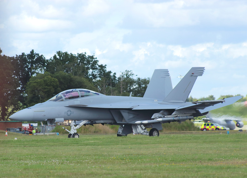 Farnborough Airshow UK 2016 Boeing F/A 18 Hornet jet fighter