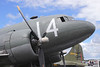 Douglas C-47A Skytrain closeup at Farnborough Airshow 2016