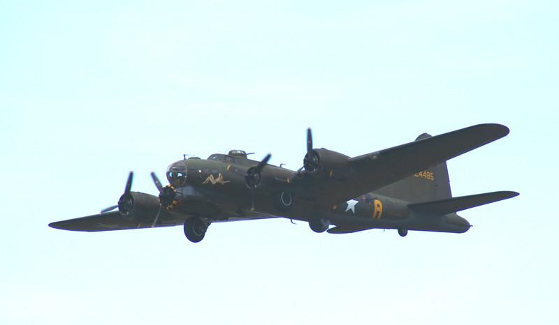 Farnborough Airshow UK. 2016 Boeing B17 world war 2 bomber