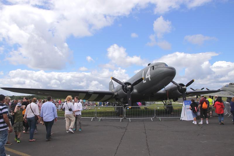Douglas C-47A Skytrain at Farnborough Airshow 2016