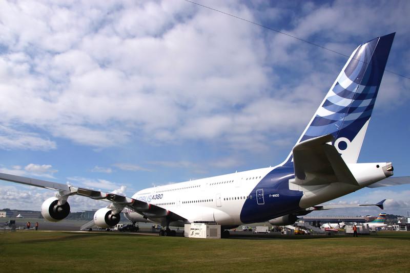 Farnborough Airshow UK 2016 Airbus A380 Airliner