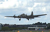 Farnborough Airshow UK. 2016 Boeing B17 world war 2 bomber