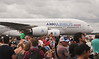 Farnborough Airshow UK 2016 Crowd of Spectators and Airbus A380