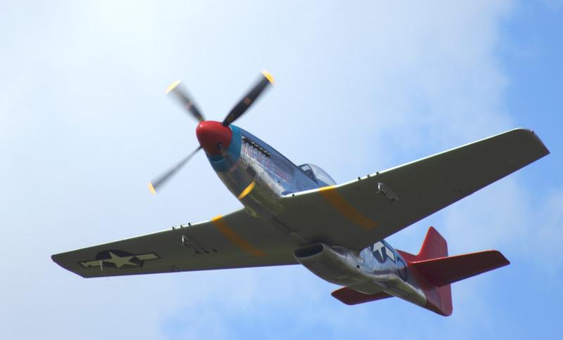 Farnborough Airshow UK  2016 P-51 Mustang in flight