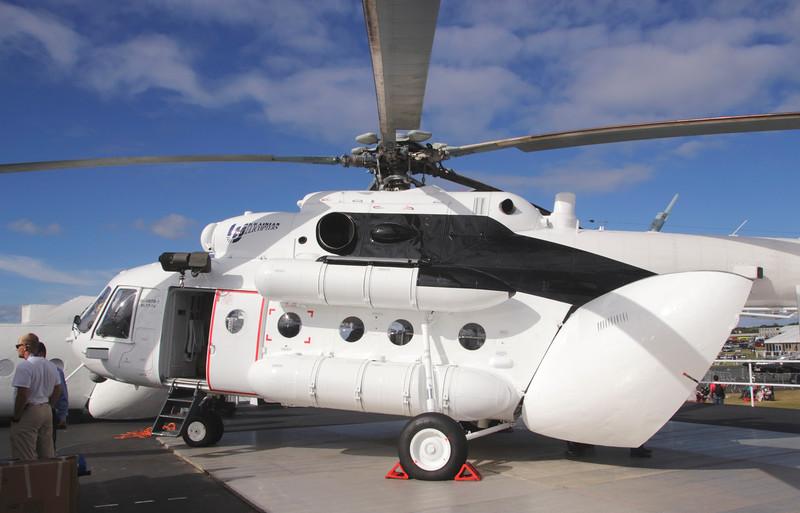 Mi-8MTV-1 twin turbine Russian helicopter at Farnborough Airshow UK 2016