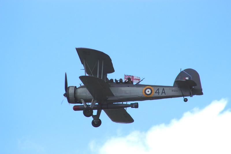 Fairey Swordfish biplane at Farnborough Airshow UK 2016