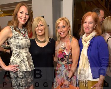 Kristin Detterline (Editor in Chief at Philadelphia Style Magazine) with mother, Janice Detterlie, Jenn Frederick (Fox 29) and Debbie Goldberg