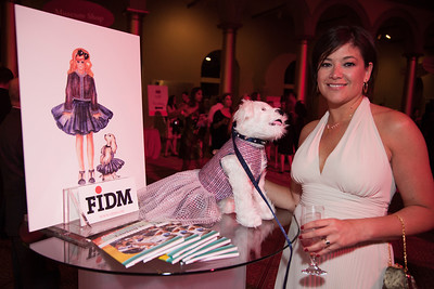Mary Grygiel at the FIDM table