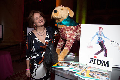 Linda Clark from DC at the FIDM fashion exhibit table