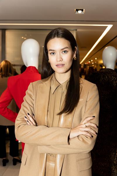Fall Fashion Show for Lafayette 148. Model Olga Vorosilova.