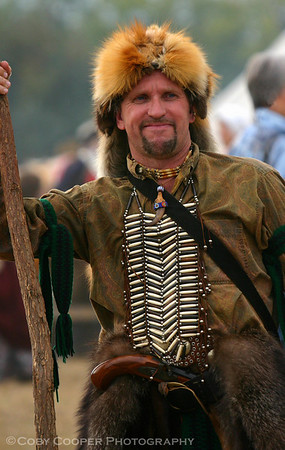 April 28, A trapper from early American History...amazing how authentic these costumes become.
