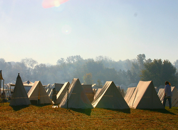 Early morning at the camp, Feast of the Hunter's Moon