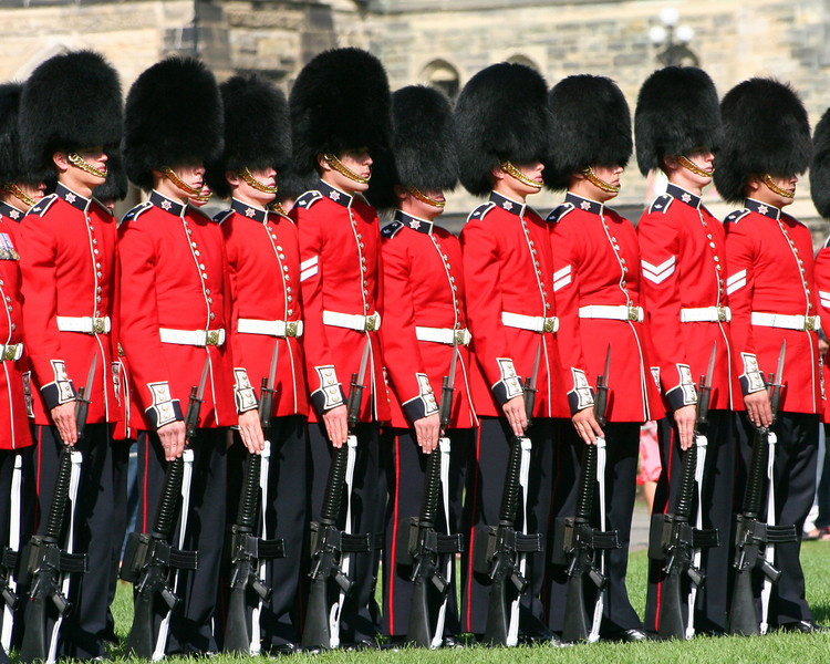 Canadian Troops on Parade - Ottawa, Canada