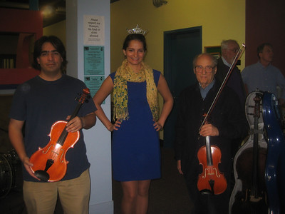 Miss Holyoke 2011 (Katlyn Lewicke) poses with members of the Holyoke Civic Symphony