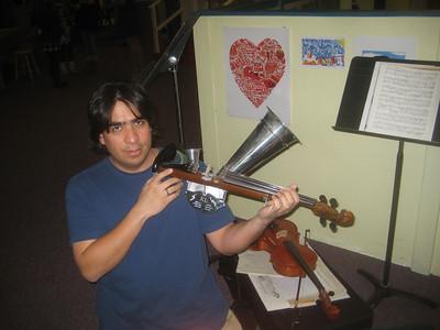 Look at this!  A Stroh violin!