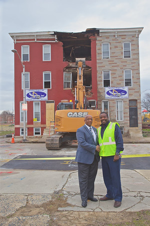 February 04, 2020 - Rebuild Johnson Square Press Conference and Demolition