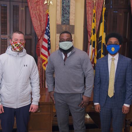 "Yahu ""Rocky"" Blackwell City Hall Visit with Mayor Brandon Scott and Councilman Eric Costello"
