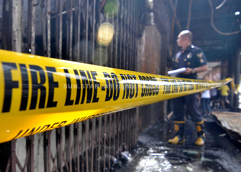 Fire along Magallanes St. in Davao City