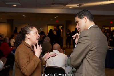 Feb. 13, 2008. Boston, MA. Commonwealth Seminar's Beginning of the Year Gathering at Blue Cross Blue Shield of Massachusetts honoring former Boston City Councilor Felix Arroyo for his decades' long service to the people in Boston and the region. © 2008 Marilyn Humphries