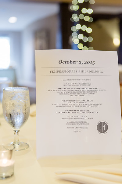 Femfessionals October 2015 Luncheon Normandy Farms