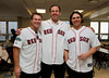 BOSTON -- From left, Boston Red Sox alumni Phil Seibel, Dave McCarty and Jeff Bailey pose at Fenway High School prior to the special pregame ceremony celebrating the 100th anniversary of Fenway Park on Friday, April 20, 2012. (Brita Meng Outzen/Boston Red Sox)