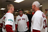 BOSTON -- Boston Red Sox alumni Darryl Irvine, Bill Lee and Eric Hetzel chat at Fenway High School prior to the special pregame ceremony celebrating the 100th anniversary of Fenway Park on Friday, April 20, 2012. (Brita Meng Outzen/Boston Red Sox)