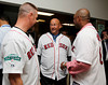 BOSTON -- Former Boston Red Sox manager Terry Francona, center, chats with fellow Red Sox alumni at Fenway High School prior to the special pregame ceremony celebrating the 100th anniversary of Fenway Park on Friday, April 20, 2012. (Brita Meng Outzen/Boston Red Sox)