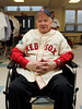 BOSTON -- Former Boston Red Sox pitcher Lou Lucier, the oldest living Red Sox player, poses at Fenway High School prior to the special pregame ceremony celebrating the 100th anniversary of Fenway Park on Friday, April 20, 2012. (Brita Meng Outzen/Boston Red Sox)
