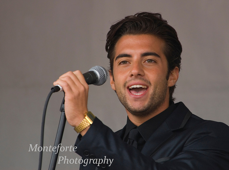 Pasquale Esposito's back up singer at the Festa Italia Santa Rosalia, Monterey California, Sept, 2010