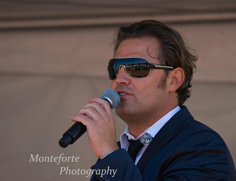 Pasquale Esposito singing at the Festa Italia Santa Rosalia, Monterey Ca. Sept  2010