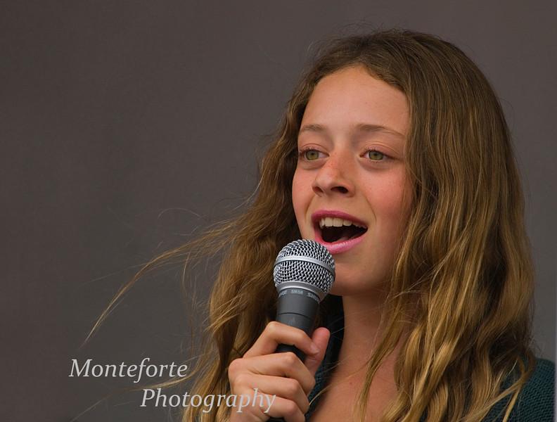 Arianna Catalano singing at Festa Italia Santa Rosalia, Monterey Ca. Sept 2010