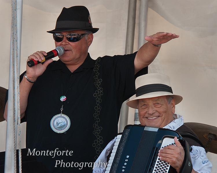 Dave Marzetti and Mike Marotta Sr. at the Festa Italia Santa Rosalia, Monterey Californie, September 2011