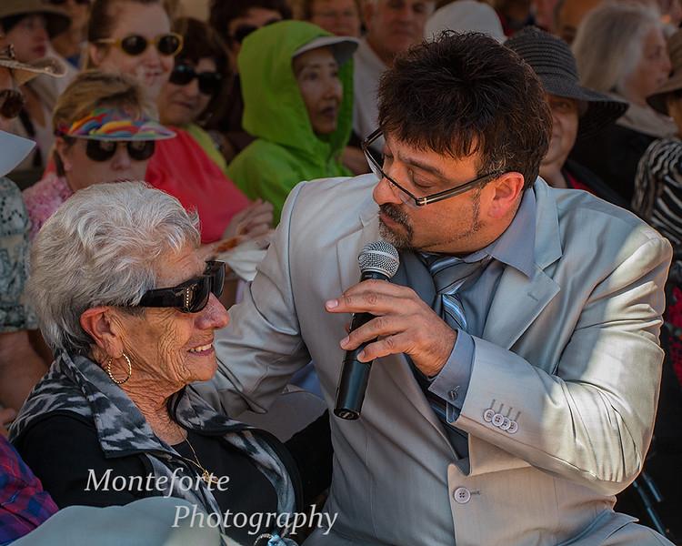 Anthony Nino Lane singing to 101 year old woman at festa Italia 2014