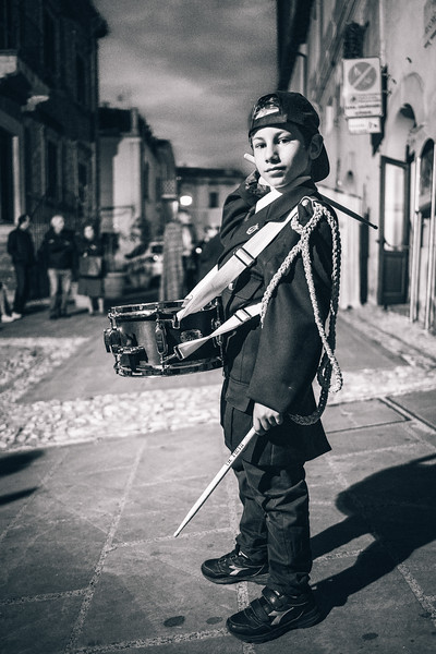 Historical parade - Young musician of Casperia Band