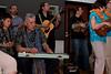 Paddy Te Tai playing the slide guitar.