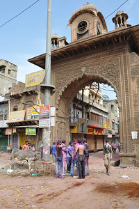 Holi Gate is the most happening part of Mathura town on the festival day.  Festival of Holi (Festival of Colours) is celebrated with great fervour and gusto in the city of Vrindavan, Mathura, UP, India.
