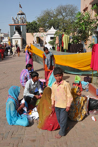 People come from far to the Krishna Temple. Later the rest, clean up and head back. Festival of Holi (Festival of Colours) is celebrated with great fervour and gusto in the city of Vrindavan, Mathura, UP, India.