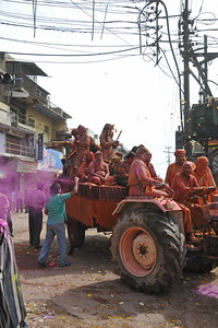 Groups of sadhus come out in open processions and participate in the festivities.  Festival of Holi (Festival of Colours) is celebrated with great fervour and gusto in the city of Vrindavan, Mathura, UP, India.