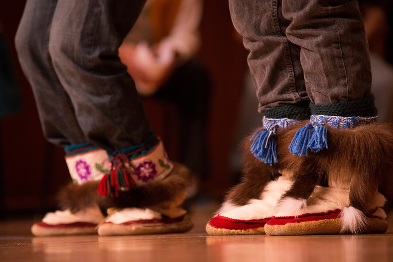 Performers at the Festival of Native Arts in Fairbanks, Alaska.