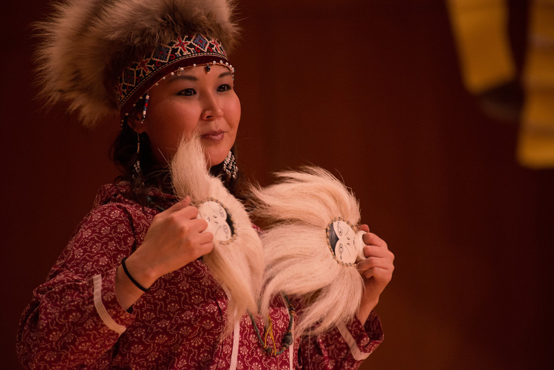 Native performers at the Festival of Native Arts in Fairbanks, Alaska.