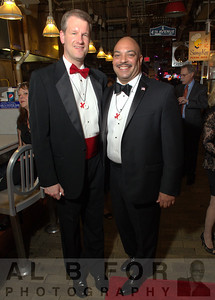 Paul Steinke (General Manager, Reading Terminal Market) and Seth Williams, Philadelphia District Attorney.  The Valentine to the Market Gala, Saturday, February 23, 2013. ( Al B. For / Philly.com )