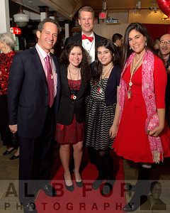 Robert Zuritsky, Haley Zuritsky, Sophia Barrett and Caroline Zuritsky with Paul Steinke (General Manager, Reading Terminal Market).  The Valentine to the Market Gala, Saturday, February 23, 2013.  ( Al B. For / Philly.com )