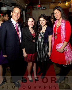 Robert Zuritsky, Haley Zuritsky, Sophia Barrett and Caroline Zuritsky.  The Valentine to the Market Gala, Saturday, February 23, 2013. ( Al B. For / Philly.com )