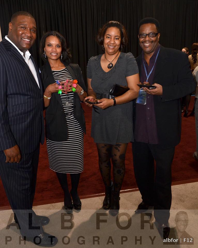 Dr. Tyrone and Sayoda Richards with Syreeta Brown and ?