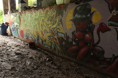 Atlanta Beltline wall near Ansley Mall