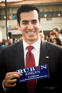 Nevada Democrat for Congress, RUBEN KIHUEN at the Chinese New Year Celebration at Chinatown Plaza.