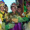 DAVAO. Newly-crowned Hiyas ng Kadayawan 2012 Jean Ali (center) of the Maguindanaon tribe and her court after Friday's coronation night held at the Davao City Recreation Center. (King Rodriguez)