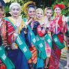 Clad in their ethnic costumes, 10 contestants hand-picked by their tribes for this year's Hiyas sa Kadayawan have their picture taken during the opening of the Kadayawan Festival 2013. The ten candidates represent the ten indigenous and Islamized tribes in Davao City: Ata, Maguindanao, Tagabawa Bagobo, Kalagan, Bagobo K'lata, Sama, Matigsalug, Tausug, Obu Manuvu, and Maranao. (King Rodriguez photo/Sun.Star Davao)